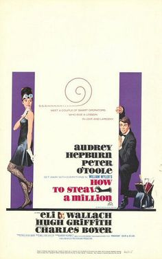 How to Steal a Million movie poster - Audrey Hepburn and Peter O'Toole