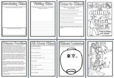 Geography Resources - FREE download of 8 China Worksheets and 10 China coloring pages!