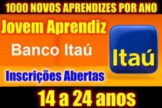 Vagas para menor aprendiz itaú, confira: http://empregosemnatal.com.br/jovem-aprendiz-itau-inscricoes/