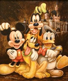 Friends forever ... Mickey, Pluto, Donald and Goofy.