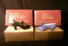 Lot of 2 Just the Right Shoe Collectables 1910 and 1920 Style pumps by Raine NIB
