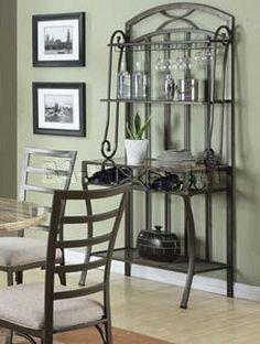 innovative decorative bakers racks furniture | daisy baker s rack in black finish beautiful stylish modern