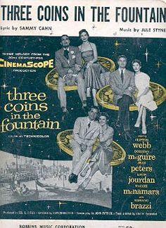 Clifton Webb, Movie Info, Vintage Sheet Music, Music Photo, Music Covers, Arts And Entertainment, Fountain, Coins, Film