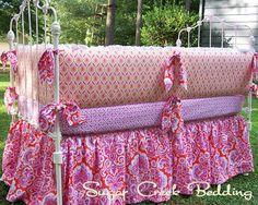 Honey Child Girl's Crib Bedding 4pc SetSugar by SugarCreekBedding, $499.00