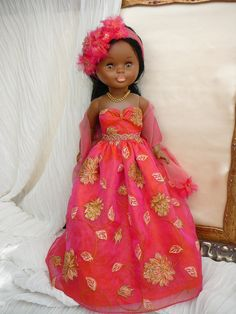 Vestido fiesta muñeca Nancy Famosa Erika, Girly Things, Glamour, Couture, Dolls, Disney Princess, Etsy, Aurora, Gipsy Fashion