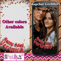 GF-538 Birthday Snapchat Geofilter Foil by LittlePinkflyDesigns