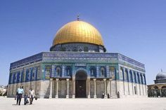 Qubba al-Sakhra | Archnet. 185. Dome of the Rock. Jerusalem, Palestine. Islamic, Umayyad. 691–692 C.E., with multiple renovations. Stone masonry and wooden roof decorated with glazed ceramic tile, mosaics, and gilt aluminum and bronze dome.