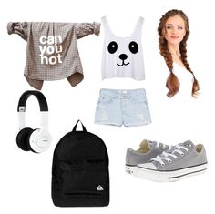 """""""Untitled #35"""" by inna-rizhkova ❤ liked on Polyvore featuring MANGO, Converse, Nixon and Quiksilver"""