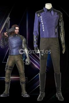 Avengers Infinity War Winter Soldier Bucky Barnes Cosplay Costume with Boots Winter Soldier Cosplay, Winter Soldier Bucky, Super Hero Outfits, Super Hero Costumes, Cosplay Costumes, Halloween Costumes, Cosplay Store, Marvel Cosplay, Bucky Barnes