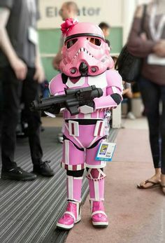 Cute little trooper at comic con !! My 6 year old now would like one