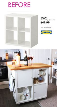 Smart and Gorgeous IKEA Hacks: save time and money with functional designs and beautiful transformations. Great ideas for every room such as IKEA hack bed, desk, dressers, kitchen islands, and more! - A Piece of Rainbow home Smart and Gorgeous Ikea Hacks Ikea Hacks, Diy Hacks, Ikea Bed Hack, Ikea Storage Bed Hack, Ikea Shelf Hack, Ikea Hack Bathroom, Ikea Billy Hack, Storage Room, Küchen Design