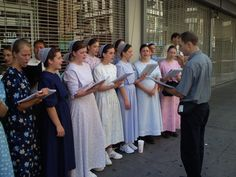 Mennonites are well known for their love of singing & praising the Lord.