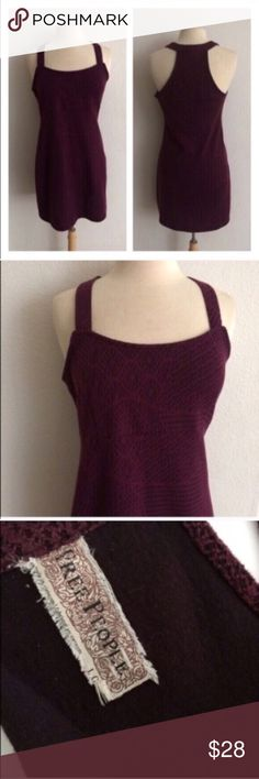 """Free People purple bodycon Free People purple dress. Size L.  Measures 33"""" long with a 36"""" bust (unstretched). This has a little bit of stretch to it. Very great used condition! The body is 65% polyester/ 35% rayon. Photo #2 shows true color (deep plum). Slightly sheer. 🚫NO TRADES🚫 💲Reasonable offers accepted💲 💰Great bundle discounts💰 Free People Dresses Mini"""