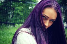 Dark purple hair - If I can work the nerve up....