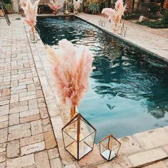Boho Gypsy, The Bohemian, Hippie Chic, Hippie Fashion, Hippie Style, Backyard Wedding Pool, Quinceanera, Pool Wedding Decorations, Hollywood Wedding