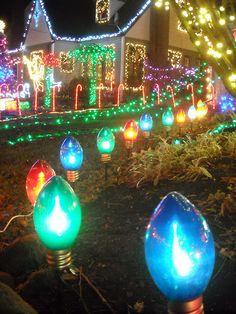 Christmas - Visiting Peacock Lane - Portland, Oregon
