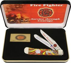 Case Cutlery: Fire Fighter Trapper Case Knives, Knives And Tools, Collector Knives, Best Hunting Knives, Firefighter, Cutlery, Gifts, Ebay, Firemen
