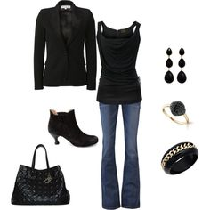 Sophisticated Black, created by mmessenger on Polyvore