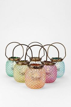 Colorful Votive Candle Holders. Love!