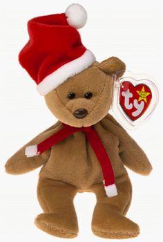 a54ebcb7aad 1997 Holiday Teddy Bear - MWMT Ty Beanie Babies Official Ty Beanie Babies  Product Mint with Mint Tag Protected