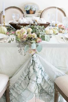 A Little Shabby, A Lot Chic. This Is A Gorgeous Table Scape