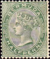 Bermuda 1883 Queen Victoria SG 19 Fine Mint SG 19 Scott 16 More British Commonwealth stamps here