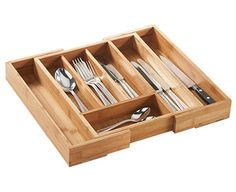Expanding Draw - Luxury solid wooden tray expands to fit any drawer