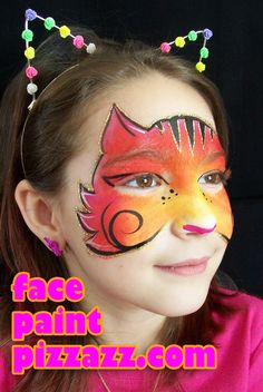 This cat design inspired by Cameron Garrett's beautiful face painting is one of the favorite designs I've done.   To reserve face painting for your NW Chicago suburb event, contact Beth[at]facepaintpizzazz.com.