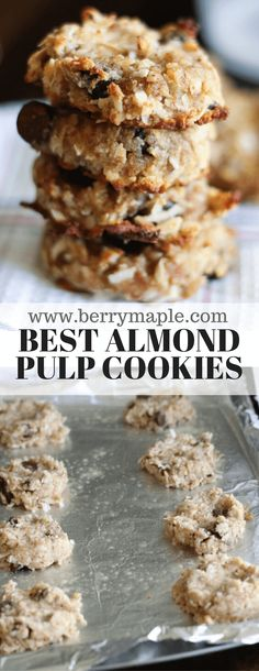 almond pulp cookies recipe