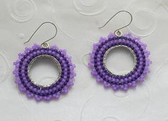 Hey, I found this really awesome Etsy listing at https://www.etsy.com/listing/188422186/handmade-beaded-earrings-purple-glass