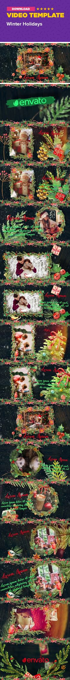 christmas, gallery, gifts, greetings, happiness, happy new year, holiday, illustrations, memories, miracle, photos, santa, slideshow, winter Winter Holidays is a great holiday after effects slideshow template with Christmas mood! This project has camera flying structure and and color control. It's easy to customize just drag and drop your pictures/footages, edit text, change colors and hit render. No plug-ins required!   Please note: audio is not included, you can download it here…