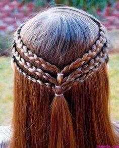 nice Örgülü şelale saç modelleri nasıl yapılır?