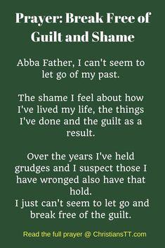 Prayer: Break Free of Guilt and Shame Daily Morning Prayer, Prayer For Today, Morning Prayers, Healing Scriptures, Prayer Verses, Biblical Verses, Scripture Verses, Irish Quotes, Bible Quotes