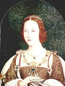 Mary Tudor, Henry VIII's younger sister & and queen consort of France through her marriage to Louis XII. The latter was more than 30 years her senior. Following his death, which occurred less than two months after her coronation as his third wife, she married Charles Brandon, 1st Duke of Suffolk. Mary was the maternal grandmother of Jane Grey.