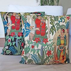 Frida Kahlo cushion covers. Oh my god!