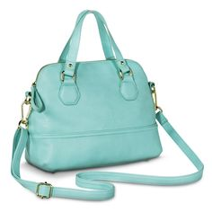 Women's Satchel Handbag with Removable Crossbody Strap - Mint