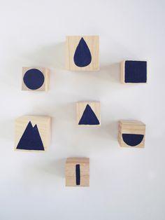 diy geometric stamps