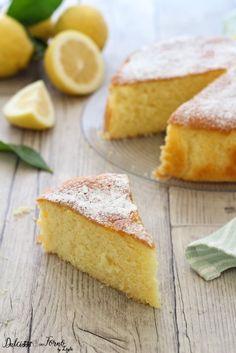 Torta soffice al limone ricetta senza burro, facile e veloce Dulcisss in forno by Leyla