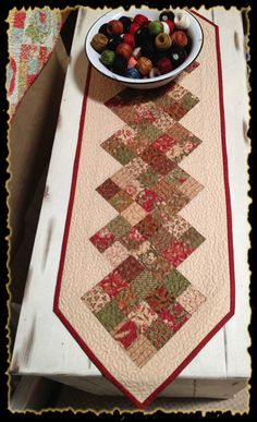 Fresh Cut Table Runner Quilt Kit by myreddoordesigns on Etsy, $30.00 cyber monday sale: use coupon code SAVE25 and receive an additional 25% off Now - Monday