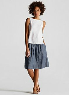 EILEEN FISHER: Fair-Weather Friends, Chambray and Linen