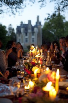 Candles and castles. Lovely table setting