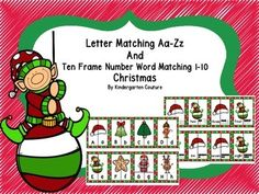 Students will match uppercase letters to the corresponding lowercase letters for one task and then match number words 1-10 to corresponding ten frames. Print out the puzzle pages (eight puzzles per page) laminate and cut apart.The cards can also be used for a memory game or go fish.