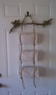 Towel Holder for my spa room. Took about 10 min. and was free :)