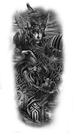 Your Design Personalized Temporary Tattoos – Fake tattoo – Norse Mythology-Vikings-Tattoo Fake Tattoos, Body Art Tattoos, Tattoos For Guys, Temporary Tattoos, Norse Mythology Tattoo, Norse Tattoo, Thor Tattoo, Tattoo Symbols, Best Sleeve Tattoos