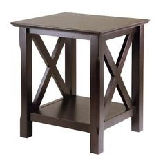 The X in Xola stands for the X design on the end table. A cross between traditional and modern design, this table is perfect addition to your home. Comes in a rich cappuccino finish and made of solid and composite wood. Easy to assemble. 100 Best Golfing Tips!! 100 Best Golfing tips on the... more details available at https://furniture.bestselleroutlets.com/accent-furniture/end-tables/product-review-for-winsome-wood-xola-end-table/