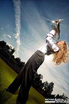 Senior Picture / Photo / Portrait Idea - Musician - Band - Horn