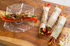 Tamari Glazed Maitake Spring Rolls | Spoon Fork Bacon