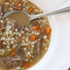 Beef Barley Soup - tried this last night.  Delicious!  Even better for lunch today.