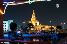 Shot taken sailing in old boat at Doha corniche