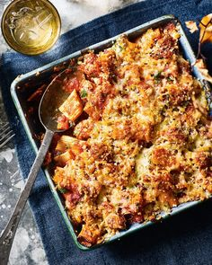 Sausage meatballs and chunky rigatoni are stirred through a rich tomato and fennel sauce, topped with cheesy breadcrumbs and baked until crunchy. Baked Pasta Recipes, Sausage Recipes, Baking Recipes, Sausage Pasta Bake, Cooking Lamb Chops, Sausage Meatballs, Fennel Recipes, Delicious Magazine, Kitchens
